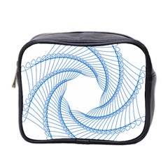 Spirograph Spiral Pattern Geometric Mini Toiletries Bag 2 Side by Nexatart