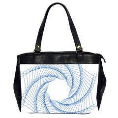 Spirograph Spiral Pattern Geometric Office Handbags (2 Sides)  by Nexatart