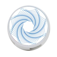 Spirograph Spiral Pattern Geometric 4 Port Usb Hub (two Sides)  by Nexatart