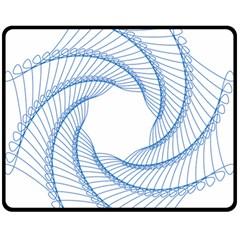 Spirograph Spiral Pattern Geometric Fleece Blanket (medium)  by Nexatart