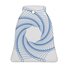 Spirograph Spiral Pattern Geometric Bell Ornament (two Sides)