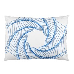Spirograph Spiral Pattern Geometric Pillow Case (two Sides)