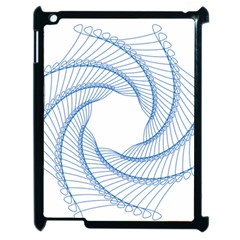Spirograph Spiral Pattern Geometric Apple Ipad 2 Case (black) by Nexatart