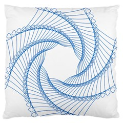Spirograph Spiral Pattern Geometric Large Cushion Case (one Side) by Nexatart