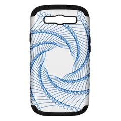 Spirograph Spiral Pattern Geometric Samsung Galaxy S Iii Hardshell Case (pc+silicone)