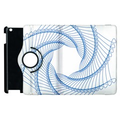 Spirograph Spiral Pattern Geometric Apple Ipad 2 Flip 360 Case by Nexatart