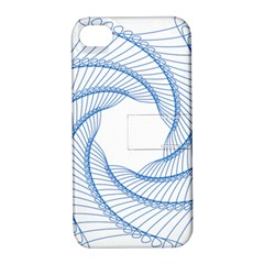 Spirograph Spiral Pattern Geometric Apple Iphone 4/4s Hardshell Case With Stand by Nexatart