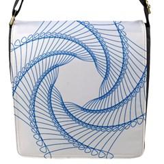 Spirograph Spiral Pattern Geometric Flap Messenger Bag (s) by Nexatart