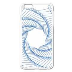 Spirograph Spiral Pattern Geometric Apple Iphone 6 Plus/6s Plus Enamel White Case