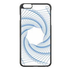 Spirograph Spiral Pattern Geometric Apple Iphone 6 Plus/6s Plus Black Enamel Case