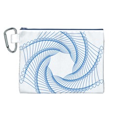 Spirograph Spiral Pattern Geometric Canvas Cosmetic Bag (l) by Nexatart