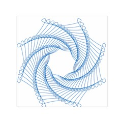 Spirograph Spiral Pattern Geometric Small Satin Scarf (square) by Nexatart