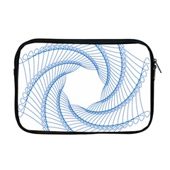 Spirograph Spiral Pattern Geometric Apple Macbook Pro 17  Zipper Case by Nexatart