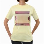 Background Image Greeting Card Heart Women s Yellow T-Shirt