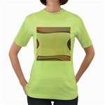 Background Image Greeting Card Heart Women s Green T-Shirt