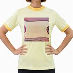 Background Image Greeting Card Heart Women s Fitted Ringer T-Shirts