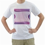 Background Image Greeting Card Heart Men s T-Shirt (White) (Two Sided)