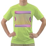 Background Image Greeting Card Heart Green T-Shirt