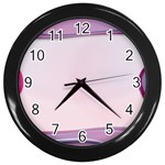 Background Image Greeting Card Heart Wall Clocks (Black)