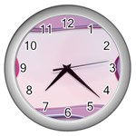 Background Image Greeting Card Heart Wall Clocks (Silver)
