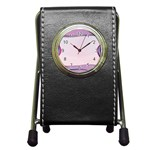 Background Image Greeting Card Heart Pen Holder Desk Clocks