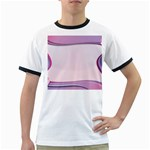 Background Image Greeting Card Heart Ringer T-Shirts