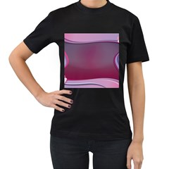 Background Image Greeting Card Heart Women s T Shirt (black) (two Sided)