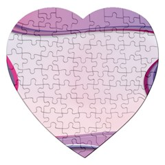 Background Image Greeting Card Heart Jigsaw Puzzle (heart) by Nexatart