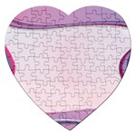 Background Image Greeting Card Heart Jigsaw Puzzle (Heart)