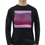 Background Image Greeting Card Heart Long Sleeve Dark T-Shirts