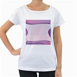 Background Image Greeting Card Heart Women s Loose-Fit T-Shirt (White)