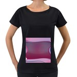 Background Image Greeting Card Heart Women s Loose-Fit T-Shirt (Black)