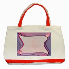 Background Image Greeting Card Heart Classic Tote Bag (red)