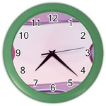 Background Image Greeting Card Heart Color Wall Clocks