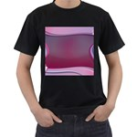 Background Image Greeting Card Heart Men s T-Shirt (Black)