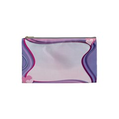 Background Image Greeting Card Heart Cosmetic Bag (small)