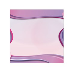 Background Image Greeting Card Heart Small Satin Scarf (square)