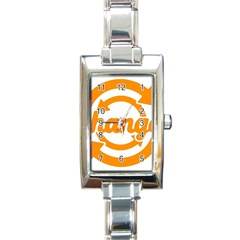 Think Switch Arrows Rethinking Rectangle Italian Charm Watch