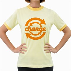 Think Switch Arrows Rethinking Women s Fitted Ringer T Shirts