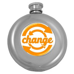 Think Switch Arrows Rethinking Round Hip Flask (5 Oz)