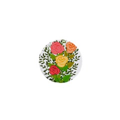 Roses Flowers Floral Flowery 1  Mini Magnets