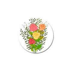 Roses Flowers Floral Flowery Golf Ball Marker (10 Pack)
