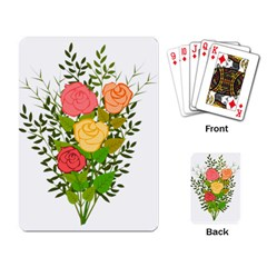 Roses Flowers Floral Flowery Playing Card