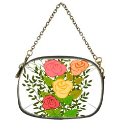 Roses Flowers Floral Flowery Chain Purses (one Side)  by Nexatart