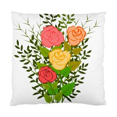 Roses Flowers Floral Flowery Standard Cushion Case (one Side) by Nexatart