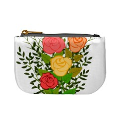 Roses Flowers Floral Flowery Mini Coin Purses