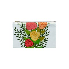 Roses Flowers Floral Flowery Cosmetic Bag (small)