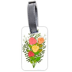 Roses Flowers Floral Flowery Luggage Tags (one Side)