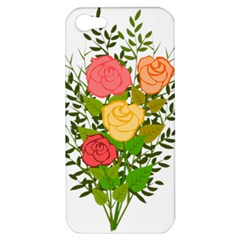 Roses Flowers Floral Flowery Apple Iphone 5 Hardshell Case by Nexatart