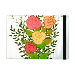 Roses Flowers Floral Flowery Apple Ipad Mini Flip Case by Nexatart